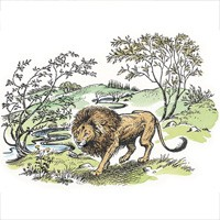 """C. S. Lewis first reads one of his favorite books, the Place of the Lion by Charles Williams. Lewis would, of course, go on to write about a lion of own, the Great Lion Aslan. Lewis later recalled """"I don't know where the Lion came from or why He came. But once he was there He pulled the whole story together, and soon he pulled the six other Narnian stories in after Him."""""""